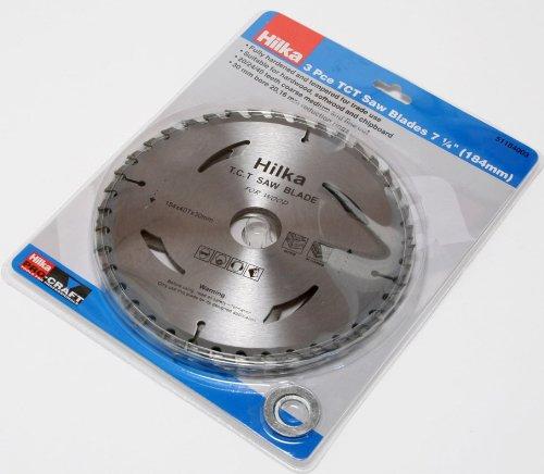 Hilka 51250002 Pro Craft TCT - Disco para sierra (7 1/4', 18,4 cm) 51184003