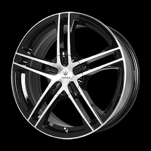 "Verde Custom Wheels Protocol Black Wheel with Machined Lip (17x7""/5x4.5"")"