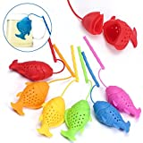 Silicone Tea Infuser Fish Shape Reusable Animal Tea Strainer Tea Bag Green Tea Filter Infusor Kitchen Tool