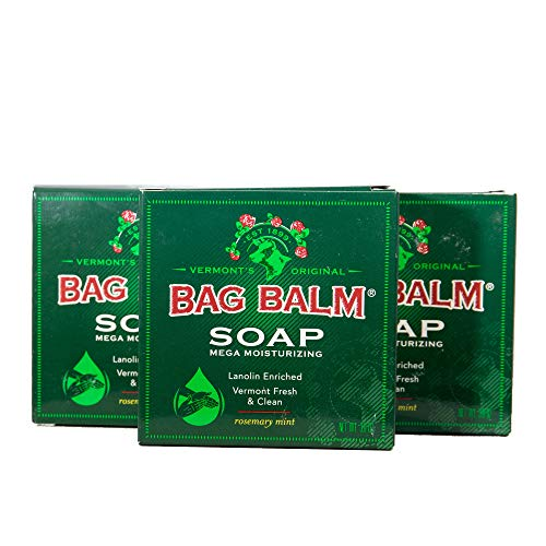 Vermont's Original Bag Balm Mega Moisturizing Soap 3 Pack