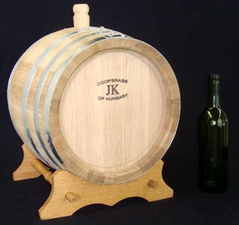 Hungarian Oak Wine Barrel with Stand- 23 Liters (Six Gallons)