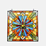 Stained Glass Lighting Mission Window Panel 24 Inches