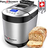 Pohl+Schmitt Bread Machine Maker with Digital Display and Dishwasher Safe Pan, SS
