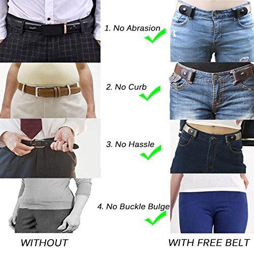 Buckle-Free Elastisch Damen Herren Unsichtbar Gürtel für Hose Jeans No Bulge
