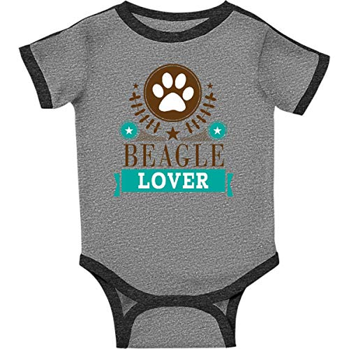 inktastic - Beagle Dog Infant Creeper 6 Months Ringer Heather and Smoke 21e9d