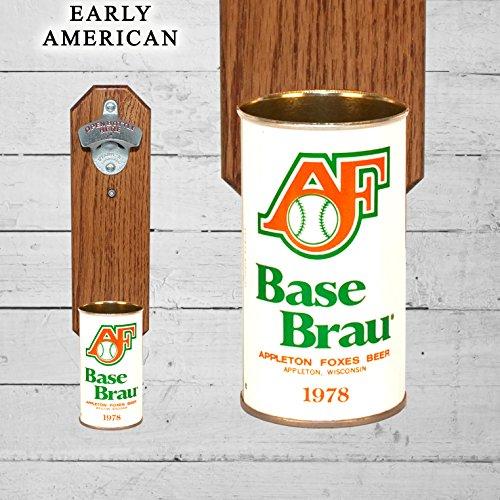 Wall Mounted Bottle Opener with Vintage Appleton Foxes Base Brau Beer Can Cap - Appleton Fox