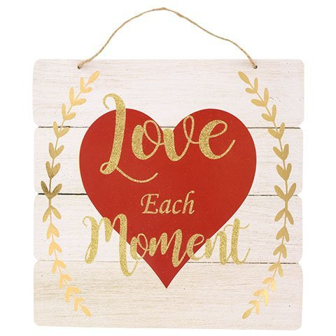 Love Each Moment Hanging Wall Plaques Home Decoration (Wall Plaque Material)