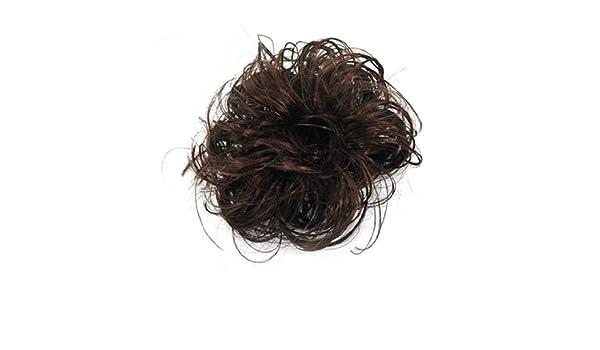 Amazon.com: eDealMax señoras de la fibra sintética rizada del moño/Cabello / Bollo/peluca, Brown, 0,08 la Libra: Health & Personal Care