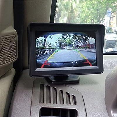 FidgetFidget LED Car 4.3'' LCD Rearview Monitor Night Vision Reverse Image Waterproof Camera