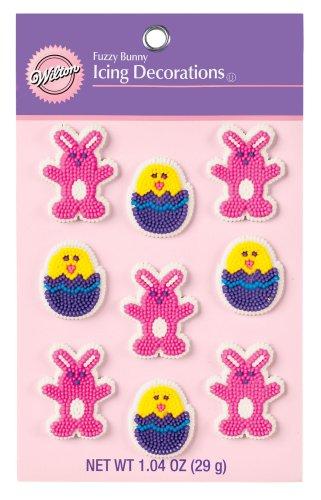 Wilton Fuzzy Bunny Icing Decorations