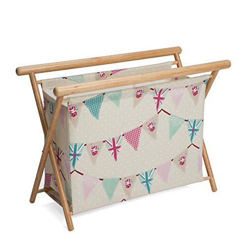 Hobby Gift HGKSL/234 | Bunting Print Large Knit/Sew Stand | 23x48.5x35.5cm by Hobby Gift