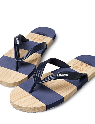 Sandals Shoes Blue Black uk6 Flops Flip 5 5 Casual NTX Men's us7 Outdoor Leather cn40 Brown blue eu39 z5qzXUx