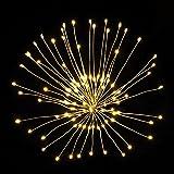 [ 2-Pack ] Dandelion String Lights, LED Fireworks Copper String Lights Bouquet Shape 100 LED Micro Lights for DIY Wedding Centerpiece Decoration, Party (Warm White)