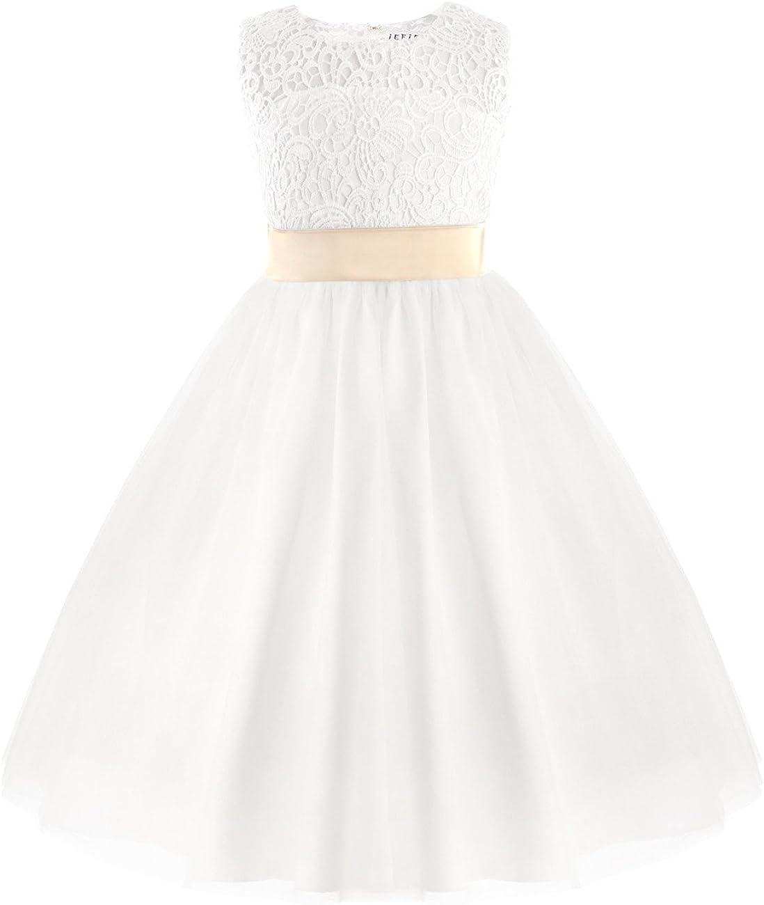TiaoBug Kids Girls Flower Dress Princess Pageant Wedding Birthday Party Prom Ball Gown Dresses