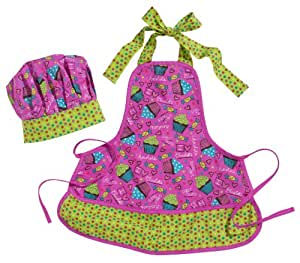 Three Cheers for Girls 60059 Sweet Treats Li'l Chef Hat and Apron Set