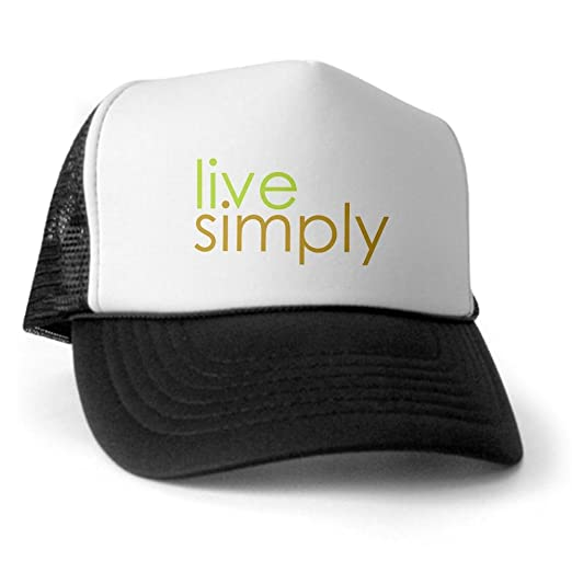 Image Unavailable. Image not available for. Color  CafePress - live simply  Trucker Hat ... adfc0569ad6