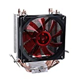 upHere Quiet CPU Cooler with 4 Direct Contact Heatpipes, Red LED Fan