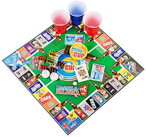Juego de mesa: Combina la vieja escuela + nuevos juegos de beber para la escuela y juegos para adultos con cerveza Pong, taza abatible, tarjeta de reyes: Amazon.es: Bricolaje y herramientas