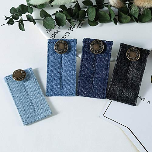 Jeans Waist Extender with Metal Button for Pants Trousers and Skirt