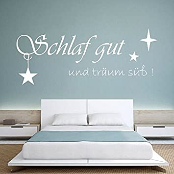 Denoda Schlaf Gut Und Traum Suss Wandtattoo Weiss 126 X 50 Cm