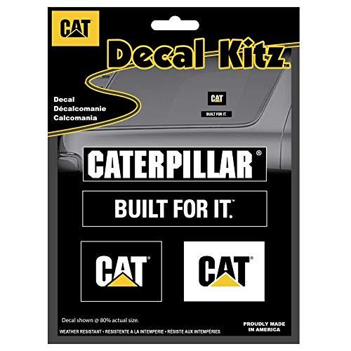 cat caterpillar 4 pc sticker decal kitz semi truck suv built for it