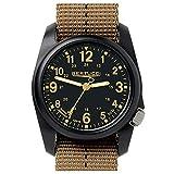 Bertucci 11041 DX3 Field Resin Dash-Striped Drab Khaki Nylon Strap Black Dial Watch