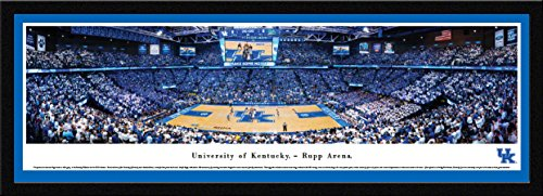 (Kentucky Basketball - Rupp Arena - Blakeway Panoramas College Sports Posters with Select Frame)