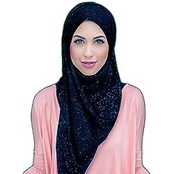 Hijab-ista Glitter Jersey Hijab (black)