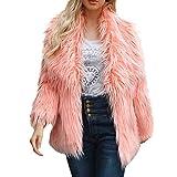 SMALLE ◕‿◕ Clearance,Jacket for Women, Ladies Warm Faux Fur Coat Jacket Winter Solid Parka Large Lapel Outerwear