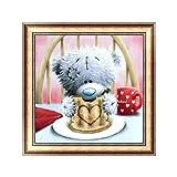 Bangle009 Big Promotion Cartoon Bear Pattern Diamond Painting Wall Art Hanging DIY Room Home Decoration