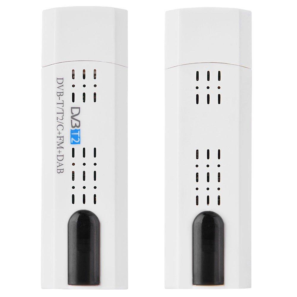 Tangxi USB-DVB-T2-Stick USB 2.0-DVB-T2-DVB-T-DVB-C- FM- DAB- und SDR-Digital-HDTV-Stick-Tuner-Empf/änger Unterst/ützt VHF//UHF-Band f/ür PC-Computer