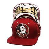 NCAA Florida State Seminoles Men's The Menace Snapback Hat, Adjustable, Cardinal