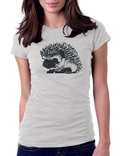Hedgehog - Womens Tee T-Shirt, Large, Heather