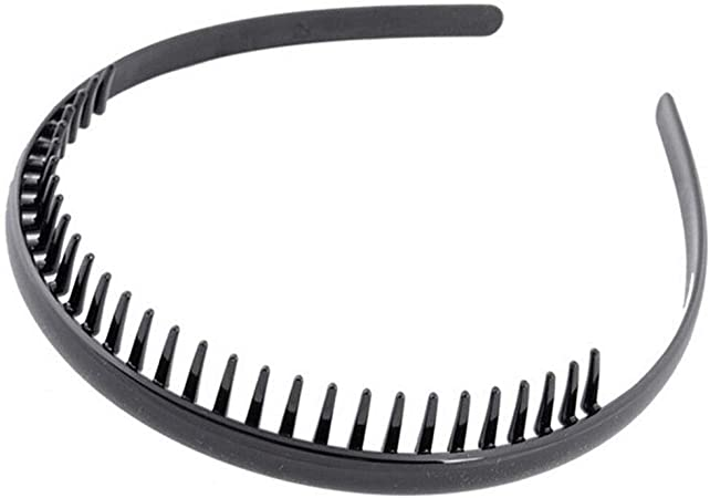 Mens Toothed Sports Football Soccer Headband Hair Band Black Portable Gift  BH