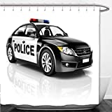 Interestlee Shower Curtain police car 213315472