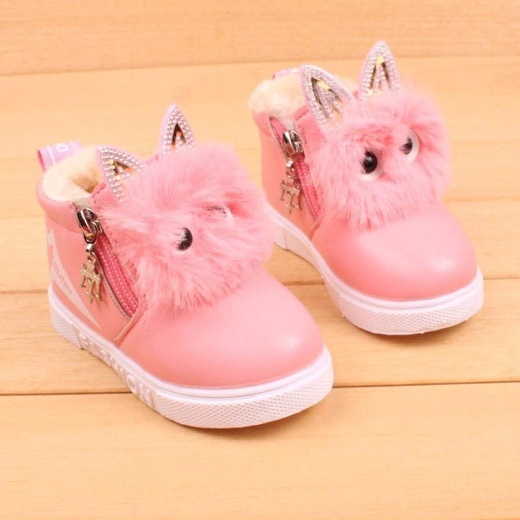 Roselv Boys Girls Anti-Slip Outdoor Sneakers Shoes Children Fashion Boys Girls Sneaker Boots Kids Warm Baby Casual Shoes