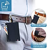 Lewis N. Clark RFID Blocking Money Belt Travel Pouch + Credit Card, ID, Passport Holder for Women & Men, Black