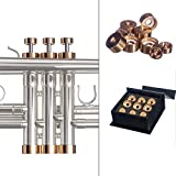4 valve trumpet - Trumpet Trim Kit for improving the sound. for all Yamaha & Stomvi Trumpet. Custom made KGUBrass (MEDIUM, Raw Brass)