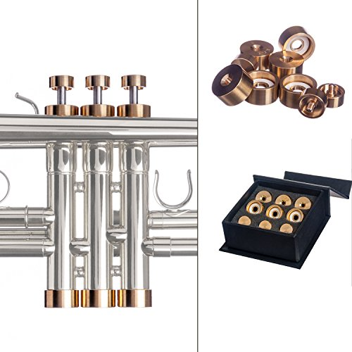 Trumpet Trim Kit for improving the sound. for all Yamaha & Stomvi Trumpet. Custom made KGUBrass (MEDIUM, Raw Brass)