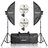 "Emart Softbox Photography Lighting Kit,2250 Watt Continute Lighting Photo Studio Softbox 20"" x 28"", 10pcs E27 Video Lighting Bulb"
