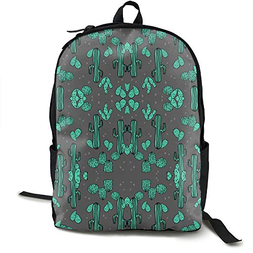 Cananhjs Cactus Charcoal Cacti Southwest Desert Cute Girls/Boys Backpack School College Laptop Bags Outdoor Daypack by Cananhjs