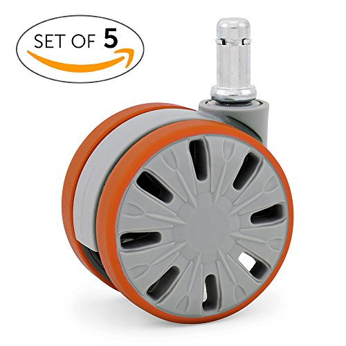 Large Office Chair Wheels Casters for Hardwood - Heavy Du...