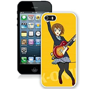 Popular And Unique Designed Cover Case For iPhone 5 With Girl Delight Jumping Guitar Brilok white Phone Case BY icecream design