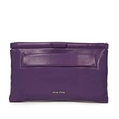 5357c84c9cd Image Unavailable. Image not available for. Color: Miu Miu Nappa Leather  Clutch ...