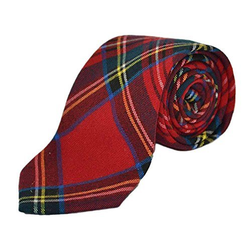 Traditional Red Tartan Check Tie, Necktie, Scotland, Highland, Scottish, - Stewart Tartan Tie