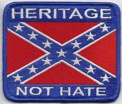 HERITAGE NOT HATE Confederate Southern REBEL Southern Biker Vest Patch PAT-0798