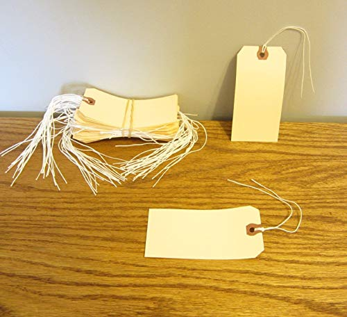 200 Avery Dennison PRE Strung #5 Blank Shipping Tags for sale  Delivered anywhere in USA