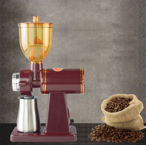220V Household Electric Coffee Grinder Automatic Coffee Bean Powder Grinding Machine - Black