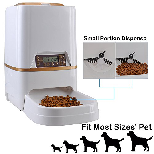 WESTLINK 6L Automatic Pet Feeder Food Dispenser for Cat Dog with Voice Recorder and Timer Programmable