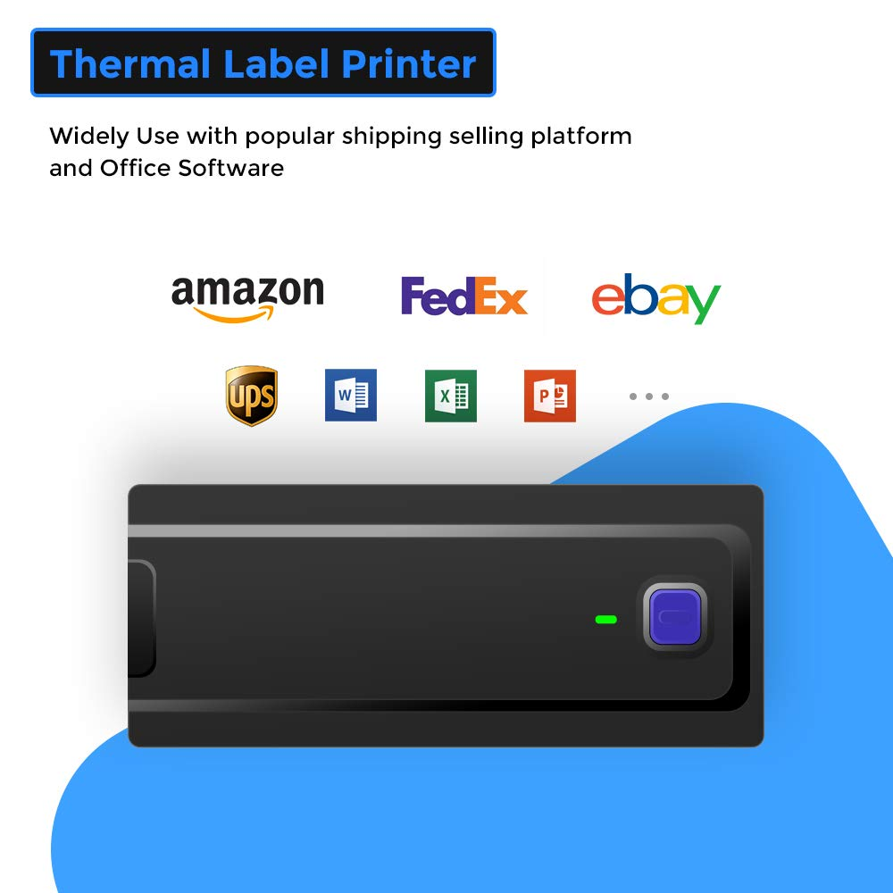 Thermal Label Printer MUNBYN Direct Thermal High Speed Label Maker  Compatible with Amazon Ebay Etsy Shopify 4x6 Barcode Printer Label Writer